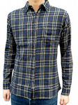 Bearsville - Plaid FLANNEL SHIRT Lumberjack Checkered - Blue